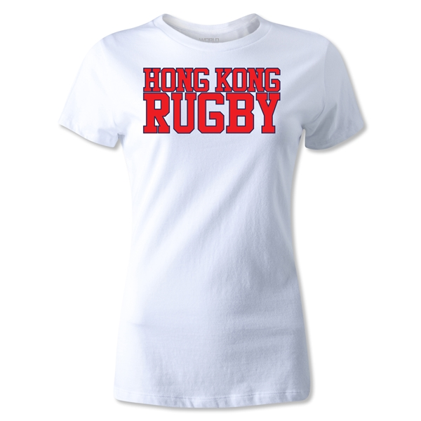 Hong Kong Women's Supporter Rugby T-Shirt (White)