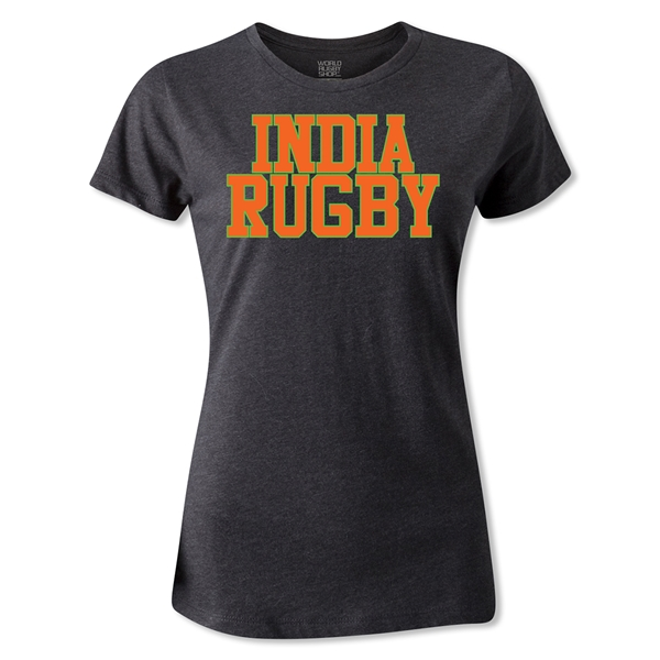 India Women's Supporter Rugby T-Shirt (Dark Gray)