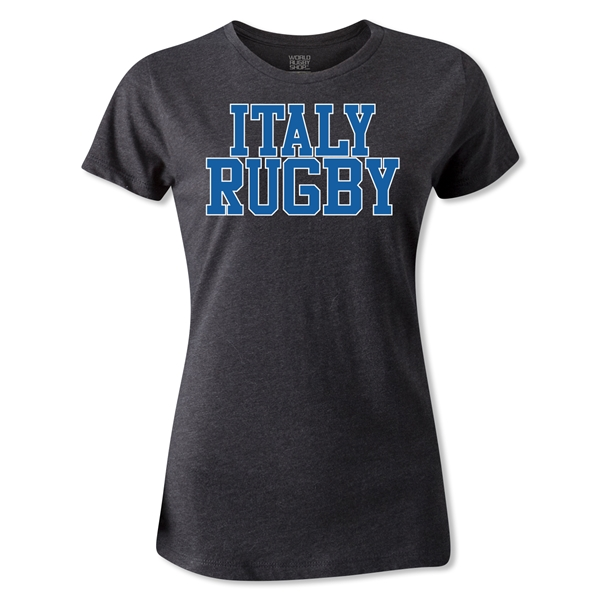 Italy Women's Supporter Rugby T-Shirt (Dark Gray)