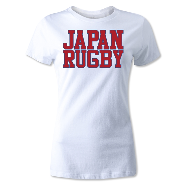 Japan Women's Supporter Rugby T-Shirt (White)