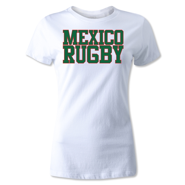 Mexico Women's Supporter Rugby T-Shirt (White)