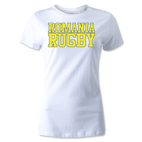 Romania Women's Supporter Rugby T-Shirt (White)