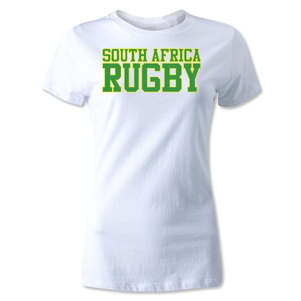 South Africa Women's Supporter Rugby T-Shirt (White)