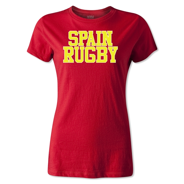 Spain Women's Supporter Rugby T-Shirt (Red)