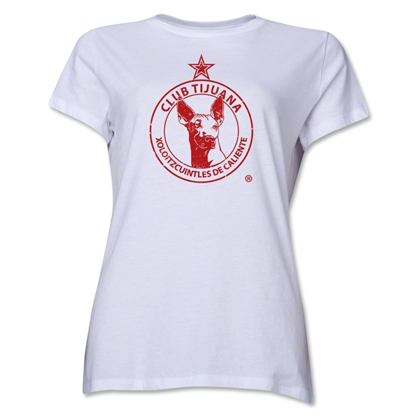 Xolos de Tijuana Distressed Women's T-Shirt (White)