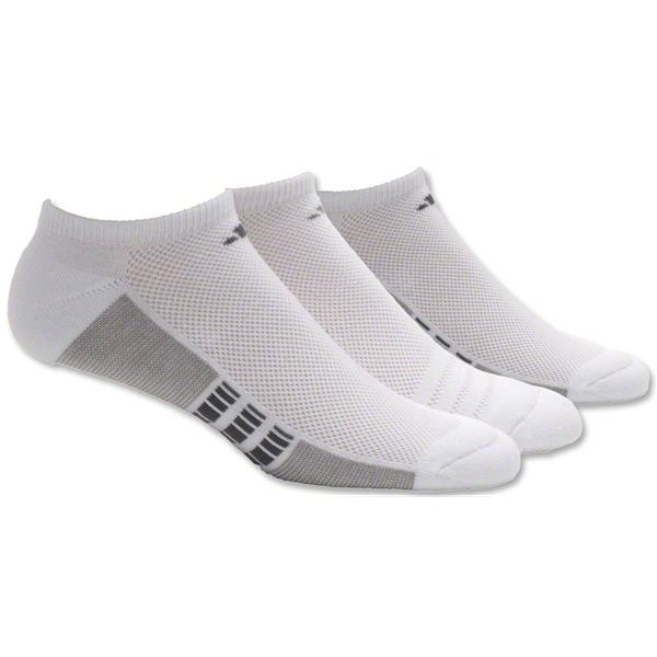 adidas ClimaCool Superlite 3-Pack No Show Sock (Wh/Bk)