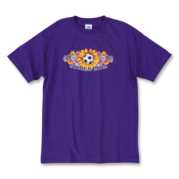 Soccer Mom Flowers T-Shirt (Purple)