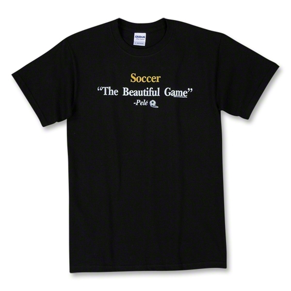Pele Quote Soccer T-Shirt (Black)