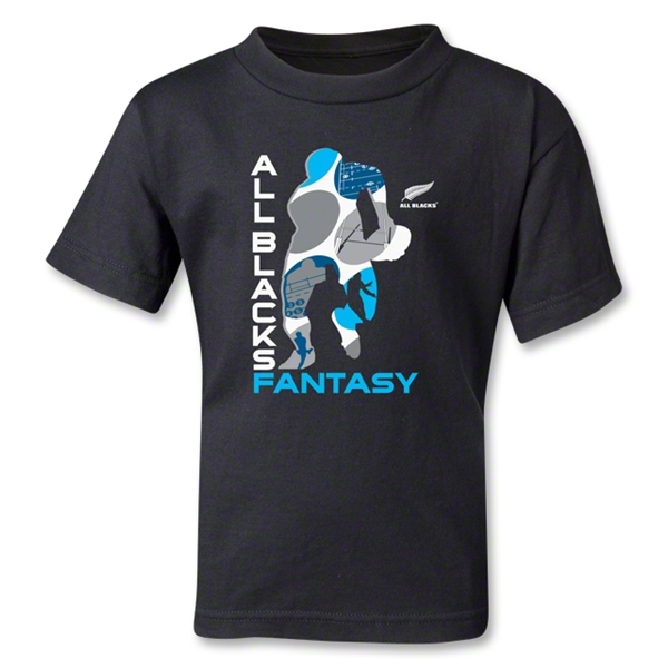 All Blacks Rugby Fantasy Kids T-Shirt (Black)