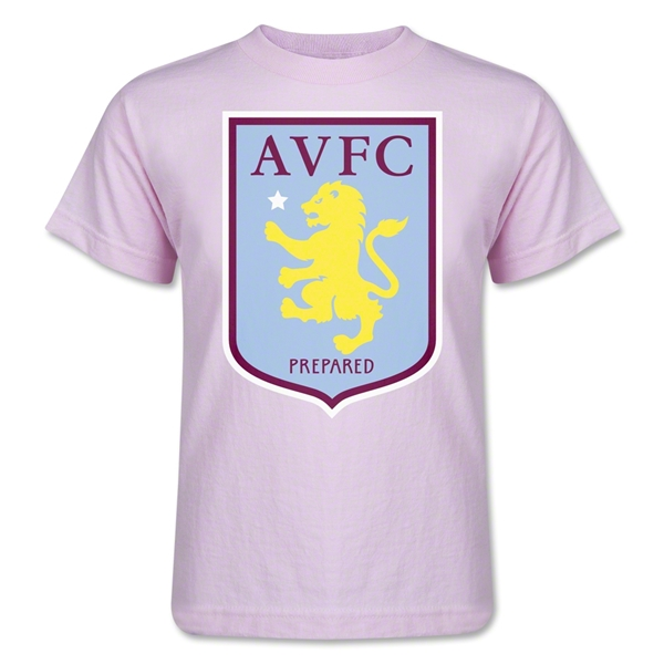 Aston Villa Kids T-Shirt (Pink)