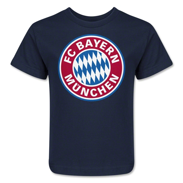 Bayern Munich Logo Kids T-Shirt (Navy)