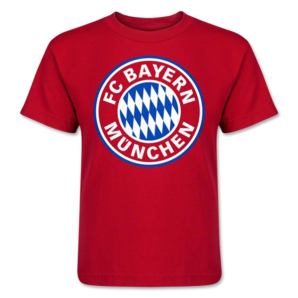 Bayern Munich Logo Kids T-Shirt (Red)