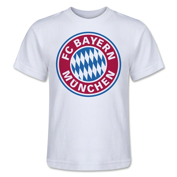 Bayern Munich Logo Kids T-Shirt (White)