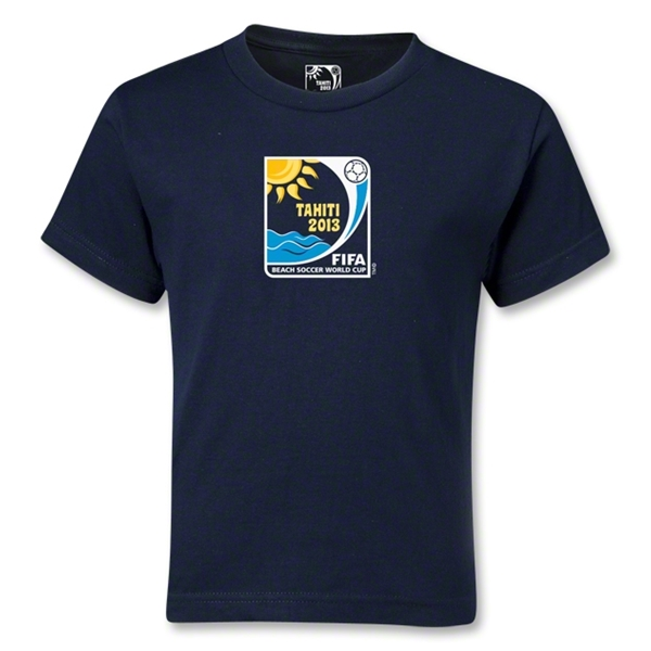 FIFA Beach World Cup 2013 Kids Emblem T-Shirt (Navy)