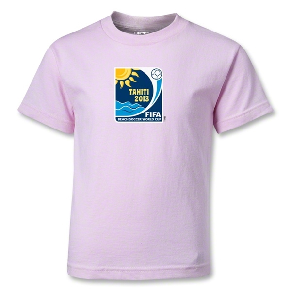 FIFA Beach World Cup 2013 Kids Emblem T-Shirt (Pink)
