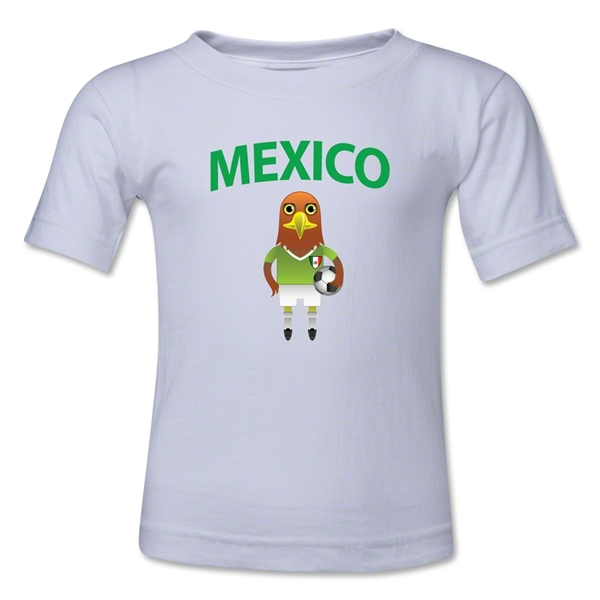 Mexico Animal Mascot Kids T-Shirt (White)