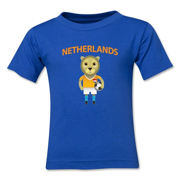 Netherlands Animal Mascot Kids T-Shirt (Royal)