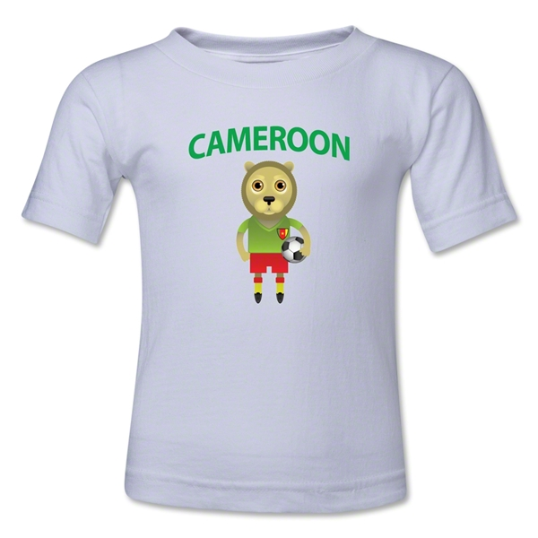 Cameroon Animal Mascot Kids T-Shirt (White)