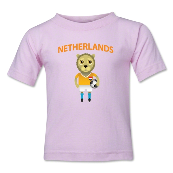 Netherlands Animal Mascot Kids T-Shirt (Pink)