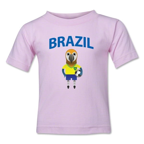 Brazil Animal Mascot Kids T-Shirt (Pink)