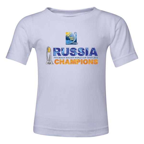 Russia FIFA Beach World Cup 2013 Winners Toddler T-Shirt (White)