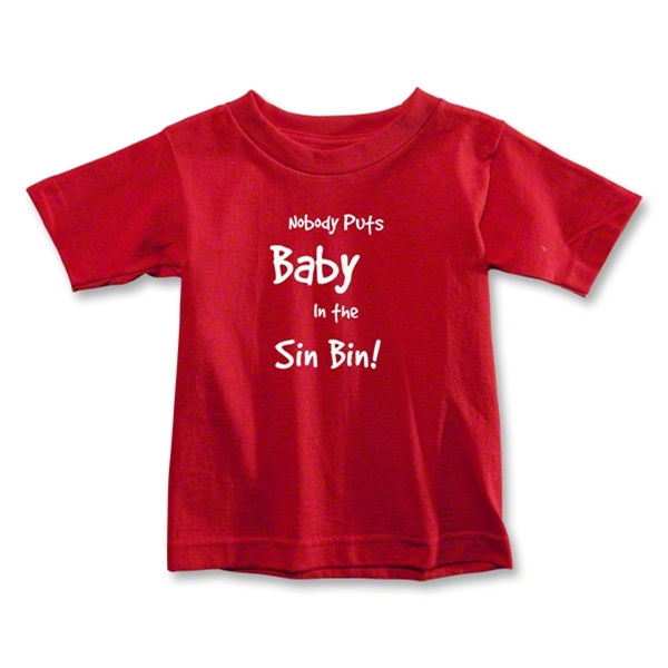 Nobody Puts Baby In the Sin Bin Toddler T-Shirt (Red)