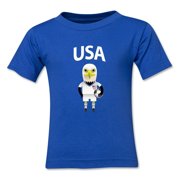 USA Animal Mascot Toddler T-Shirt (Royal)