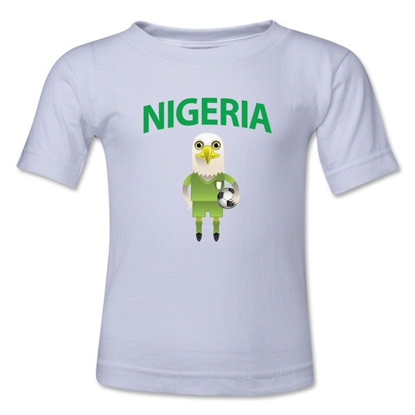 Nigeria Animal Mascot Toddler T-Shirt (White)
