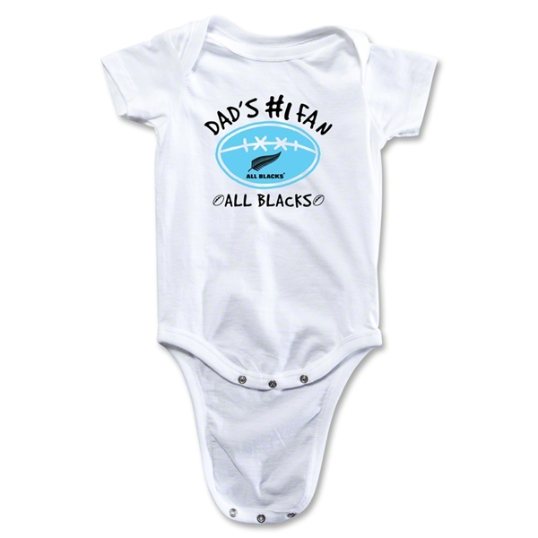 All Blacks Dad #1 Fan Baby Onesie (Boys)