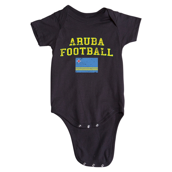 Aruba Football Onesie (Black)