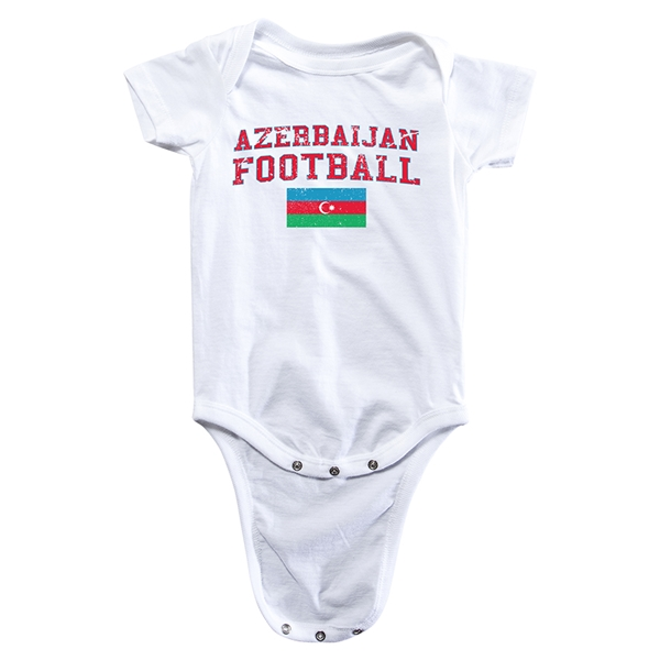 Azerbaijan Football Onesie (White)