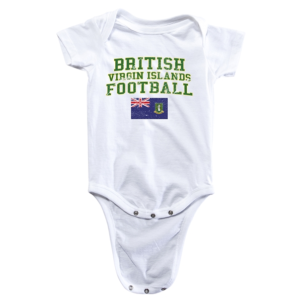 British Virgin Islands Football Onesie (White)