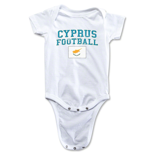Cyprus Football Onesie (White)