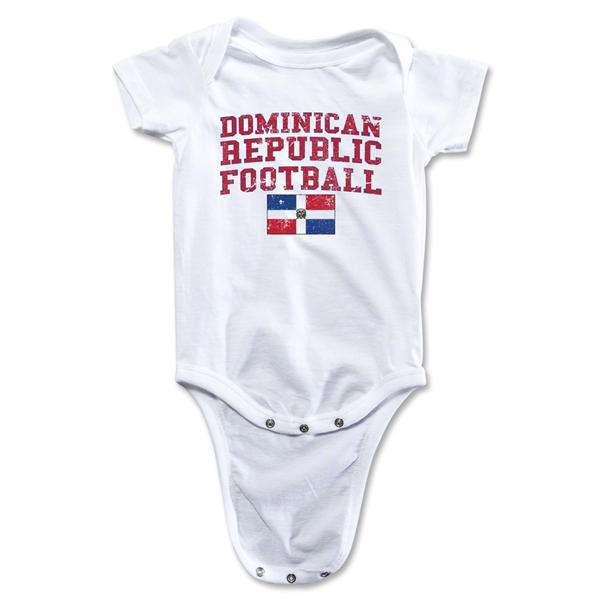 Dominican Republic Football Onesie (White)