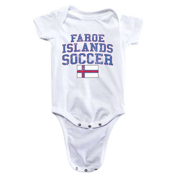 Faroe Islands Soccer Onesie (White)