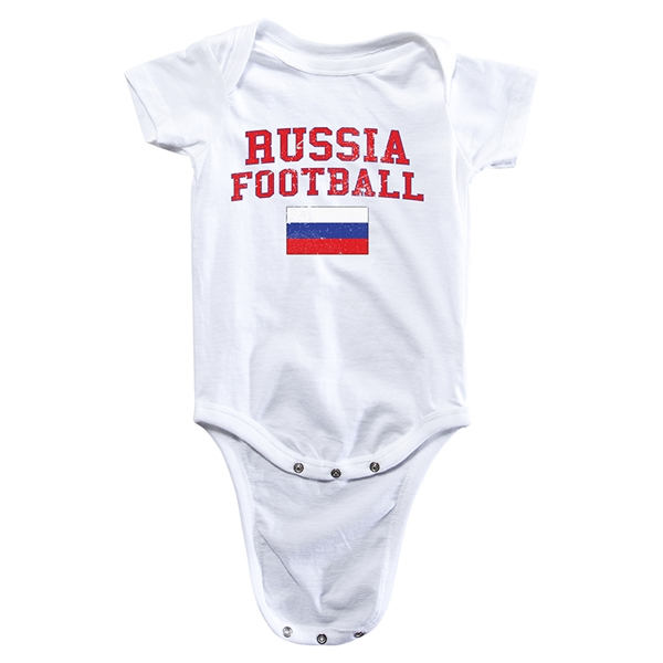 Russia Football Onesie (White)