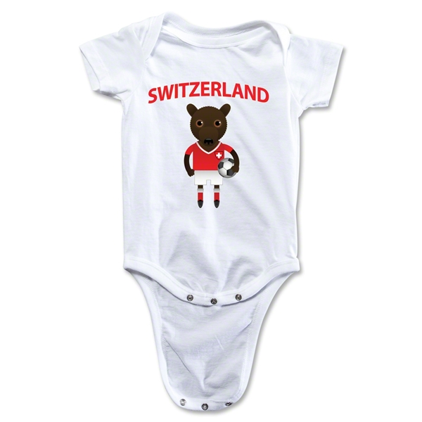 Switzerland Animal Mascot Onesie (White)