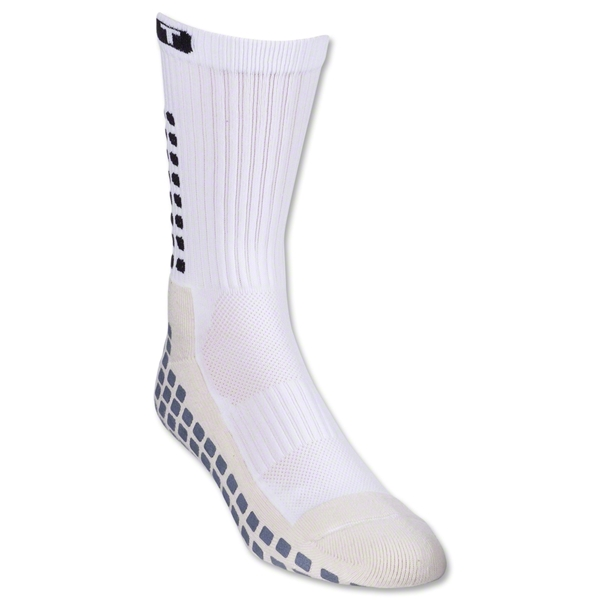 TRUSOX Crew Length Sock-Thin (White)
