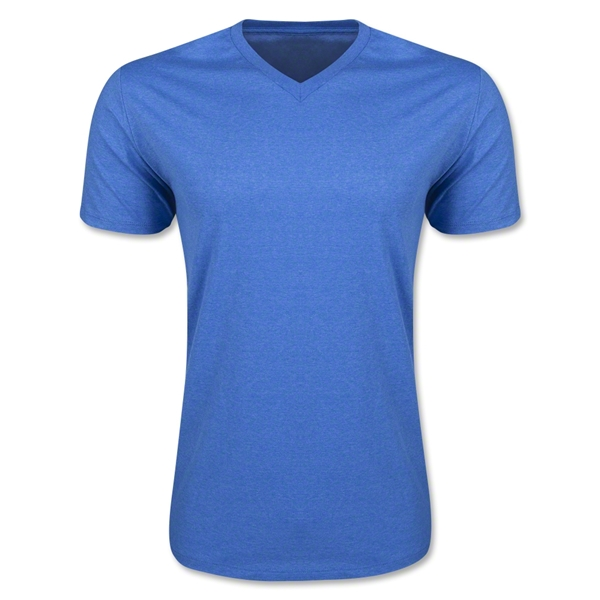Men's V-Neck Tee (Heather Ro)