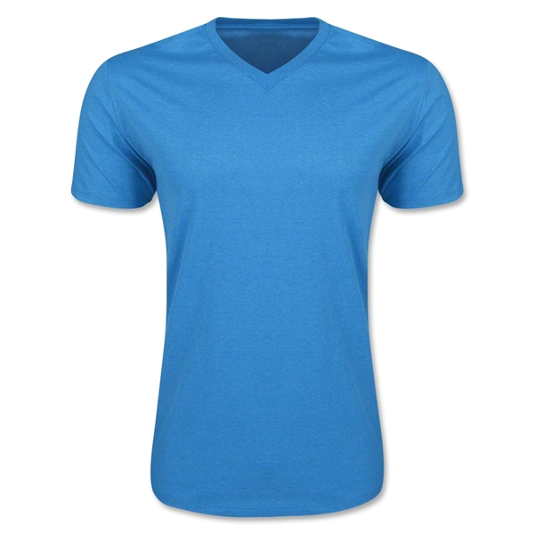 Men's V-Neck Tee (Heather Tq)