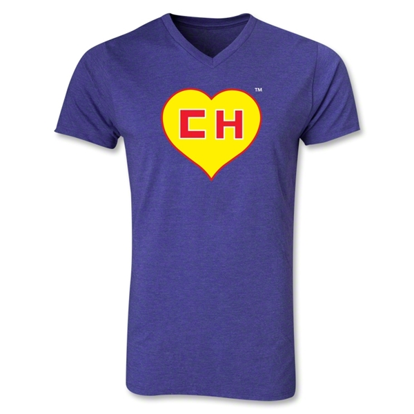 Chapulin V-Neck T-Shirt (Heather Purple)