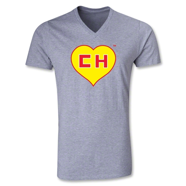 Chapulin V-Neck T-Shirt (Gray)