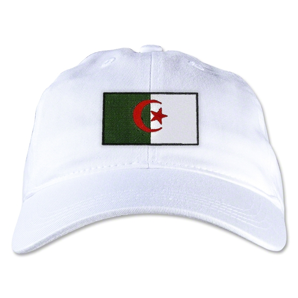 Algeria Unstructured Adjustable Cap (White)