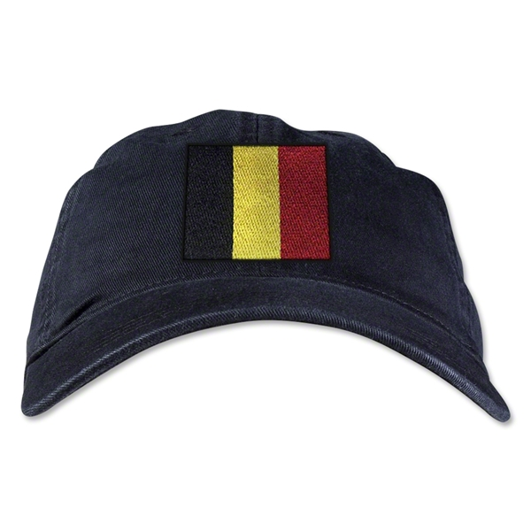 Belgium Unstructured Adjustable Cap (Black)