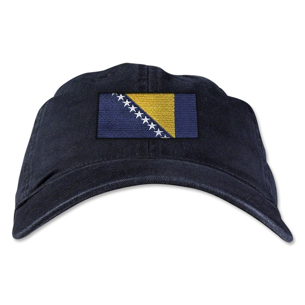 Bosnia-Herzegovina Unstructured Adjustable Cap (Black)