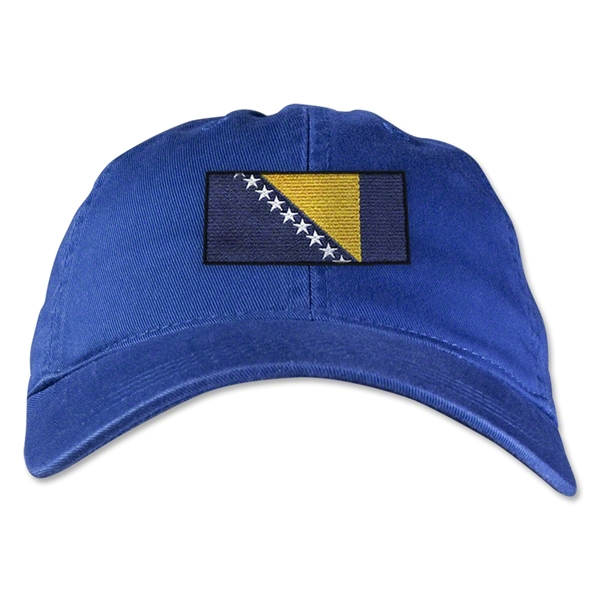Bosnia-Herzegovina Unstructured Adjustable Cap (Royal)
