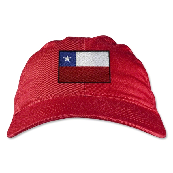 Chile Unstructured Adjustable Cap (Red)