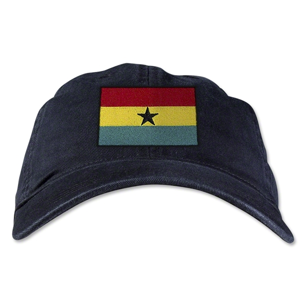 Ghana Unstructured Adjustable Cap (Black)