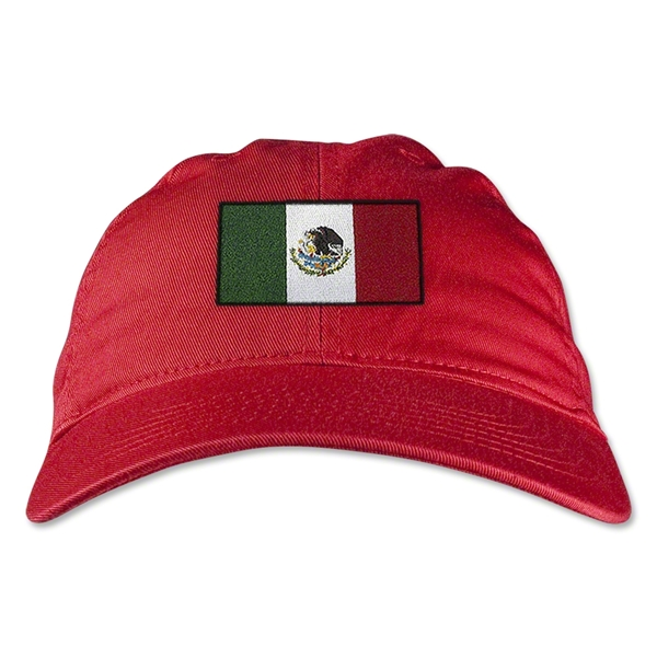 Mexico Unstructured Adjustable Cap (Red)