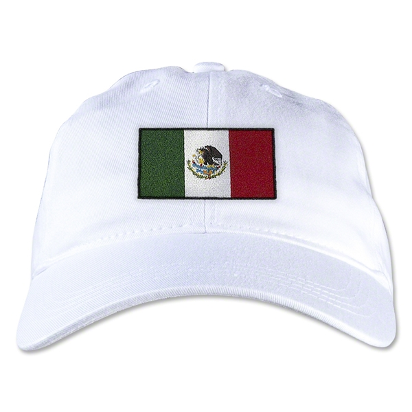 Mexico Unstructured Adjustable Cap (White)